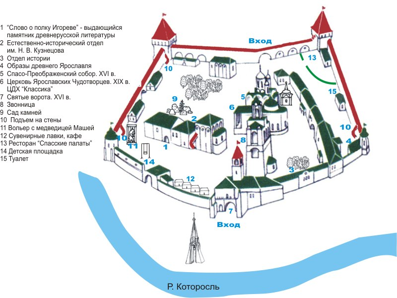 Карта музея.